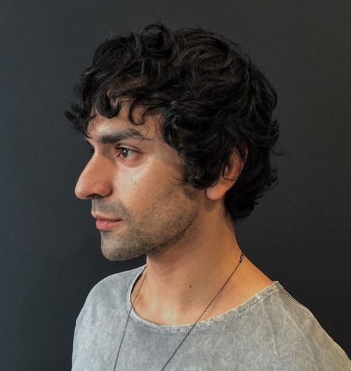 5 short to medium curly haircut for men
