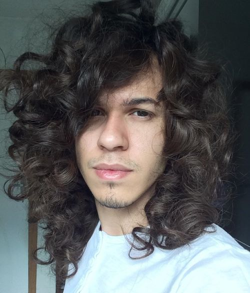 6 long curly mens hairstyle