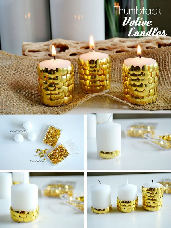 7 DIY Gold Candles