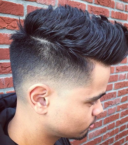 7 fauxhawk with back and side fade