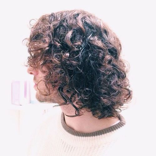 7 long messy curly hairstyle for men