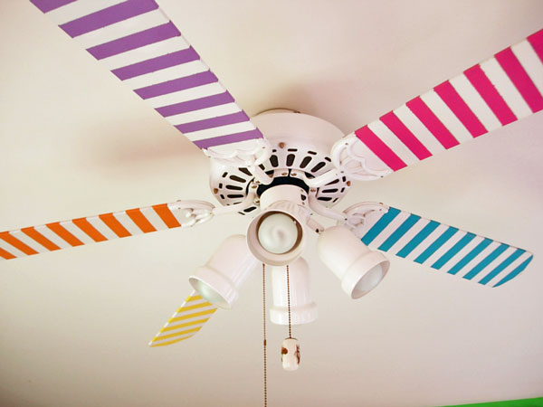 1 Ceiling Fan Decoration with Washi Tape