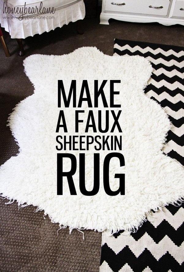 1 DIY Faux Sheepskin Rug