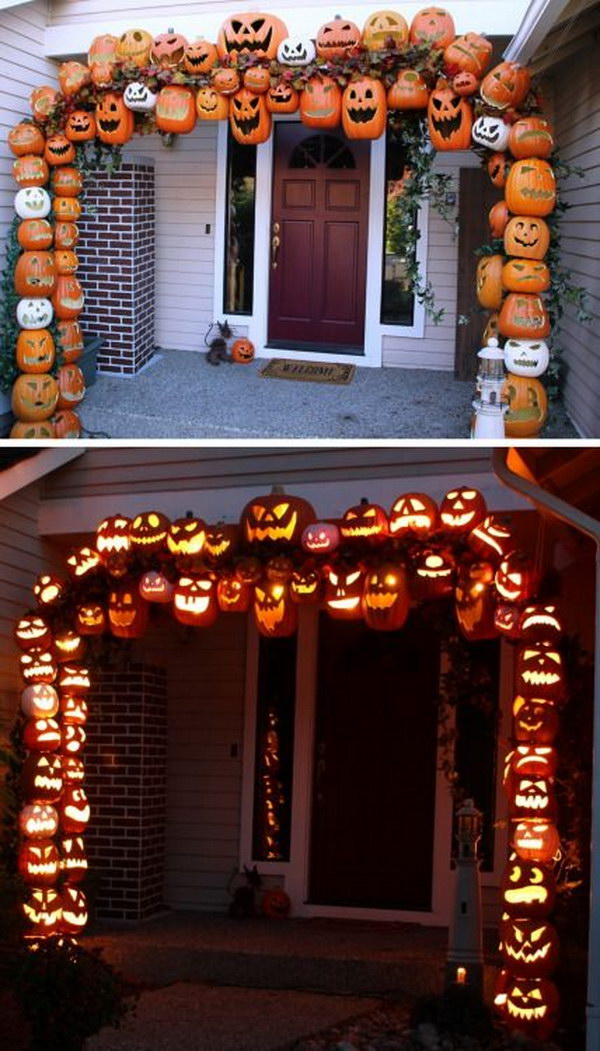 1 DIY Illuminated Pumpkin Arch