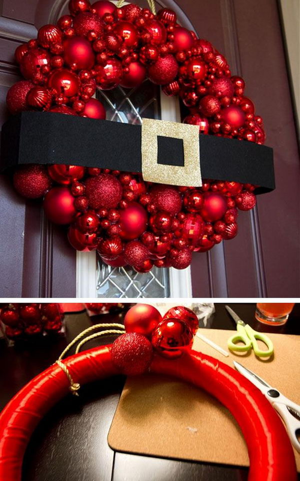 1 DIY Santa Wreath
