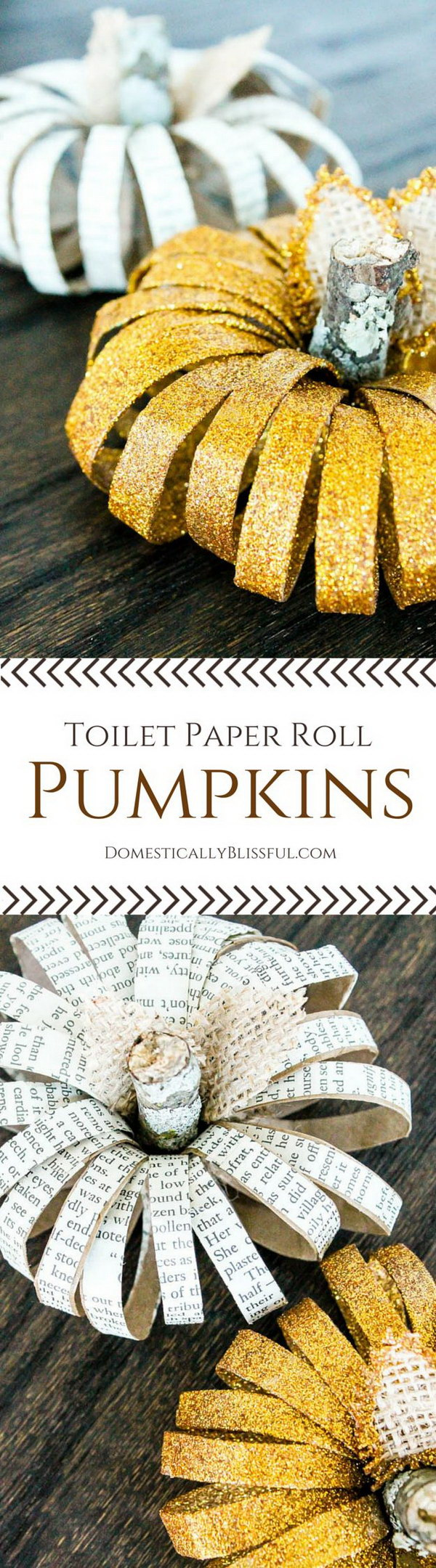 1 DIY Toilet Paper Roll Pumpkins