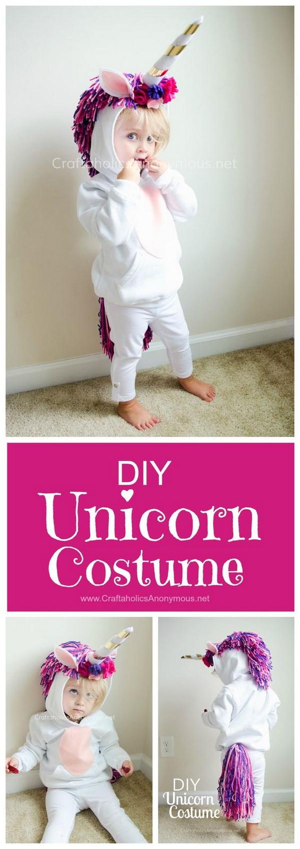 1 DIY Unicorn Costume for Kids