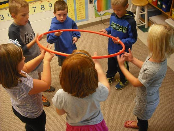 1 Hula Hoop Team Building Activity