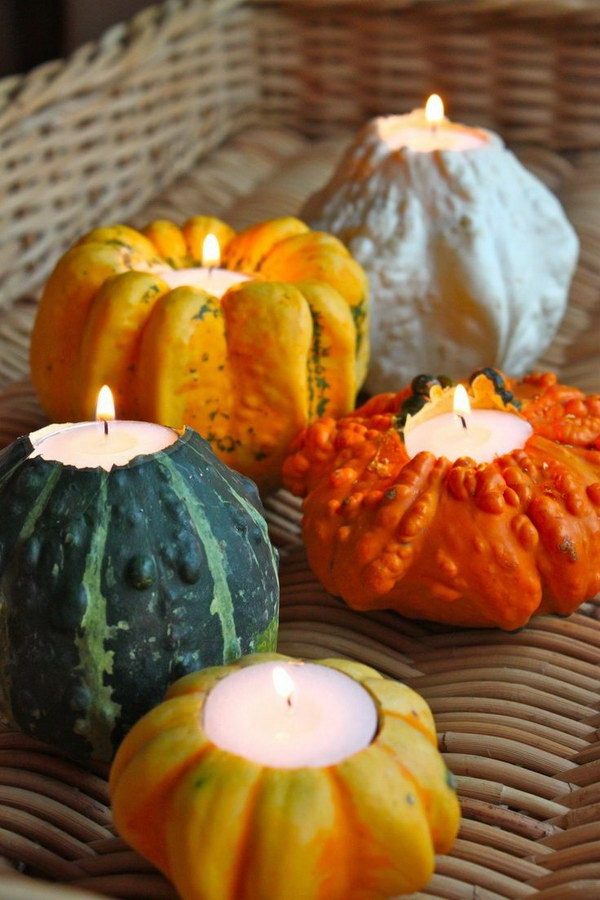 1 Pumpkin Candle Holders