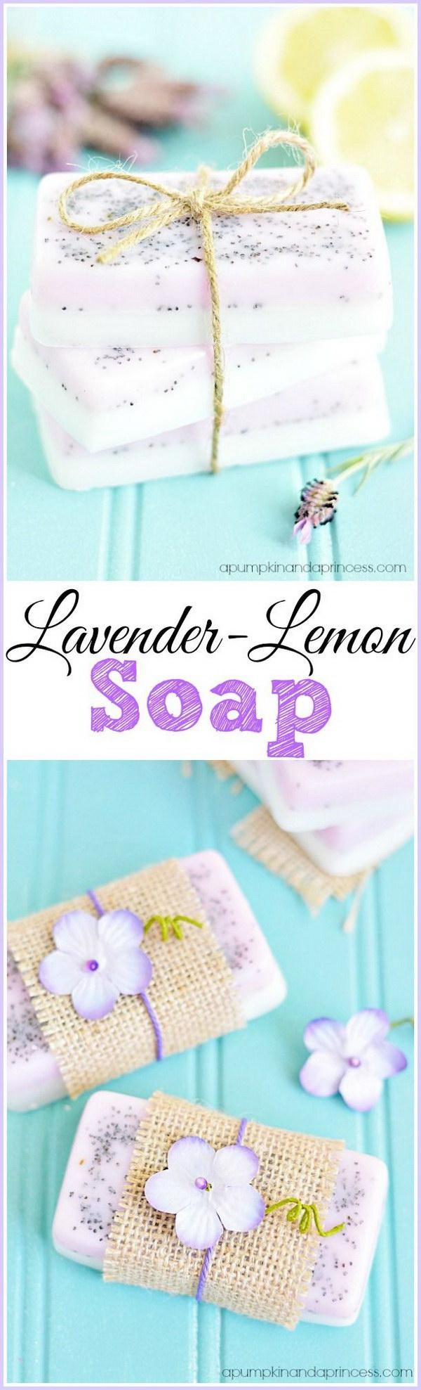 10 Homemade Lavender Lemon Soap