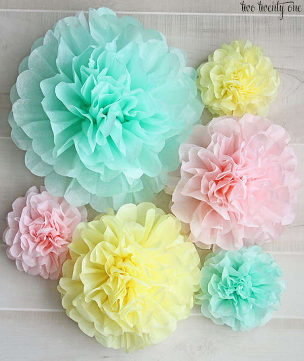 10 Tissue Paper Pom-Poms