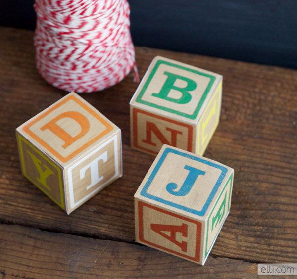 11 DIY Alphabet Block Gift Boxes