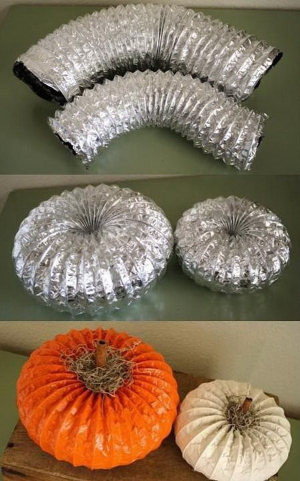 11 DIY Dryer Vent Pumpkins