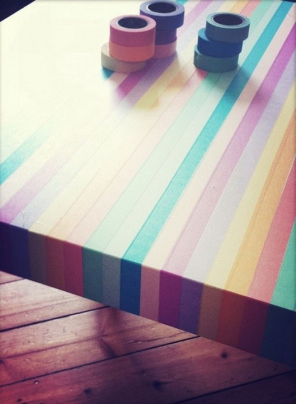 11 IKEA Table Hack with Washi Tape