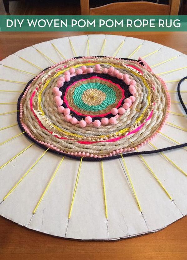 11 Woven Rug using a Cardboard Loom