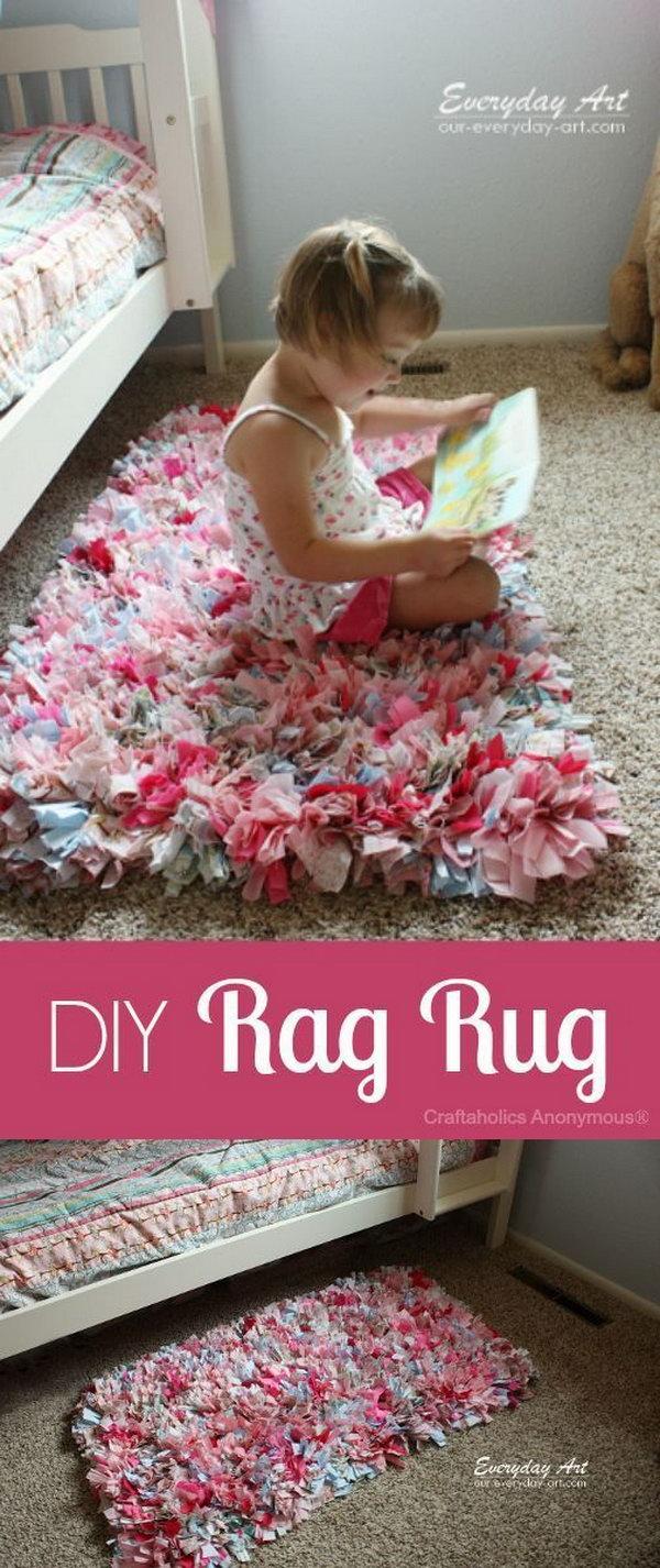 12 DIY Rag Rug Made from Fabric Scraps