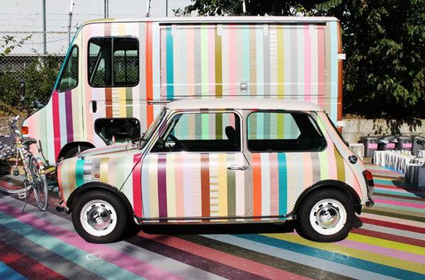 12 Refashion a Car with Washi Tape