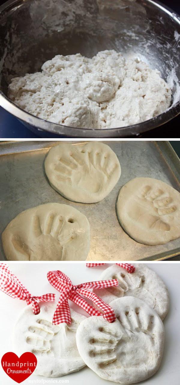 12 Salt Dough Handprint Ornaments
