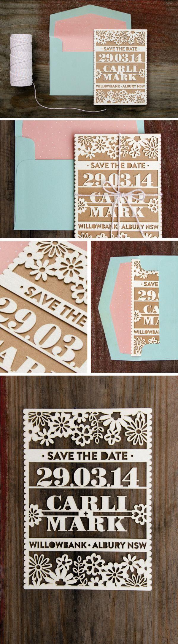 13 Elegant Laser Cut Save the Date Board
