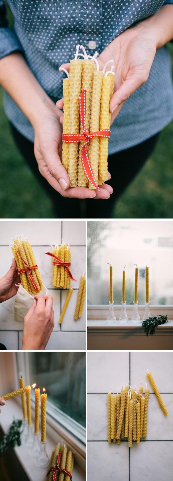 14 DIY Beeswax Candles