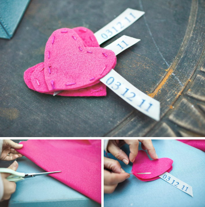 14 Easy to Make Heart Shape Felt Save the Date Magnets