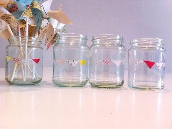 14 Mason Jar Crafts with Washi Tape