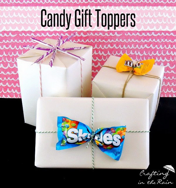 16 Creative Candy Gift Toppers