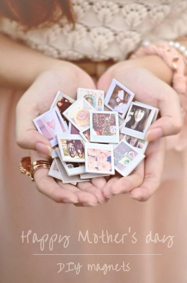 16 DIY Mini Photo Magnets