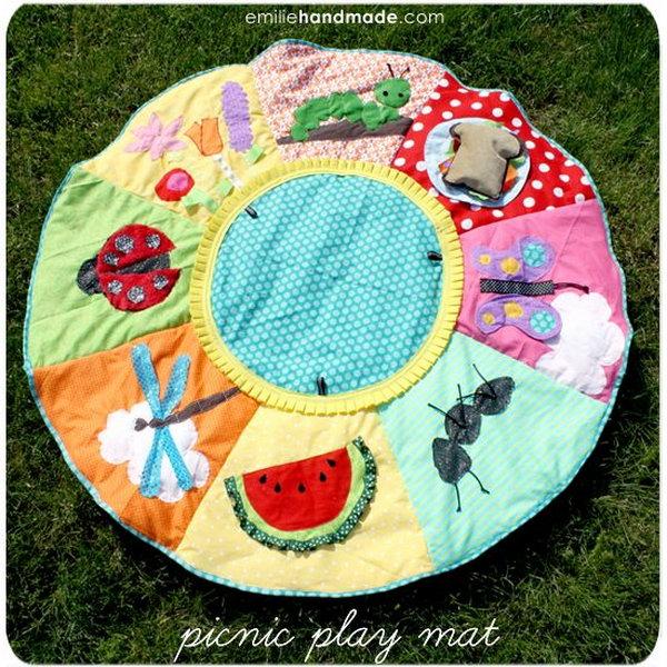 16 DIY Picnic Baby Playmat