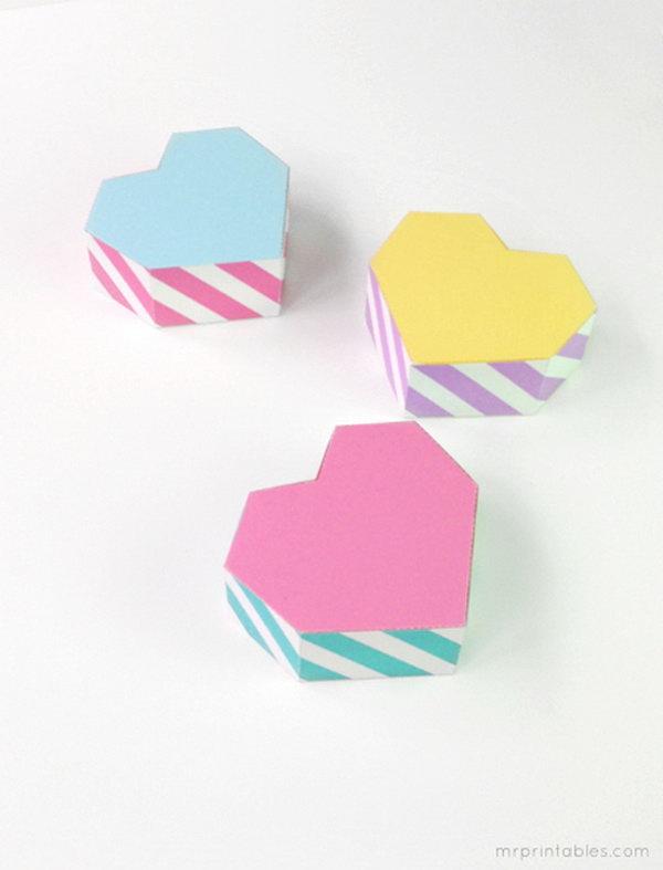 16 Geometric Heart Shaped Gift Boxes