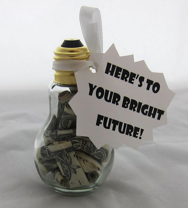 16 Light Up the Future with Money in a Light bulb