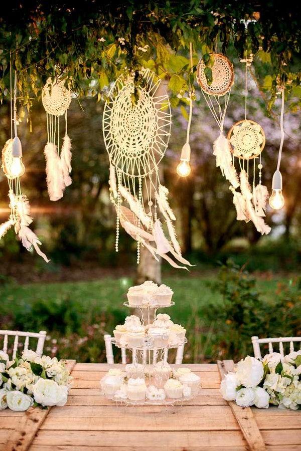17 DIY Dream catchers for Wedding Decoration
