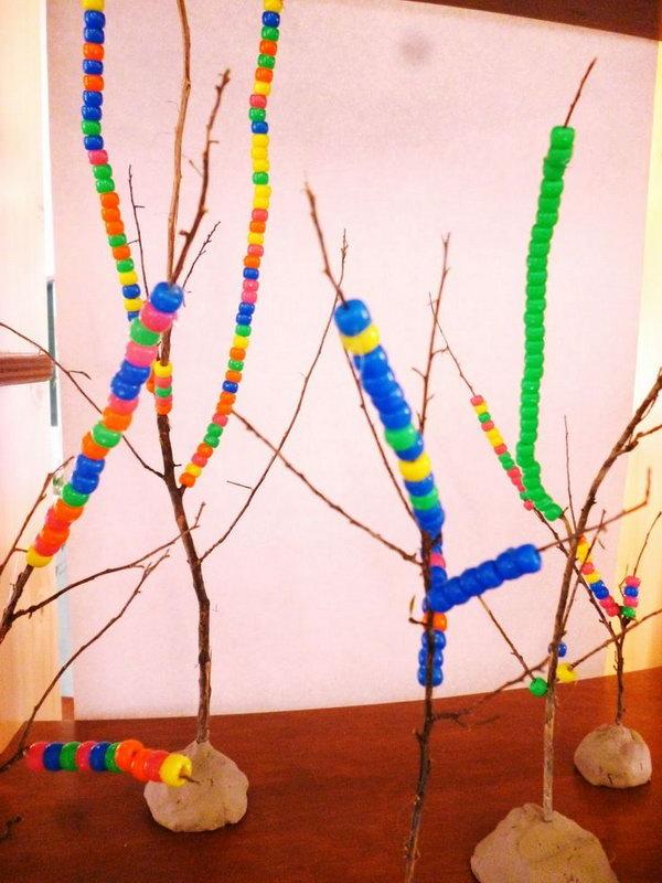 17 Threading Beads onto Twigs