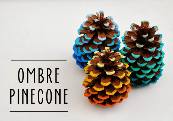 18 Ombre Pinecone Tutorial