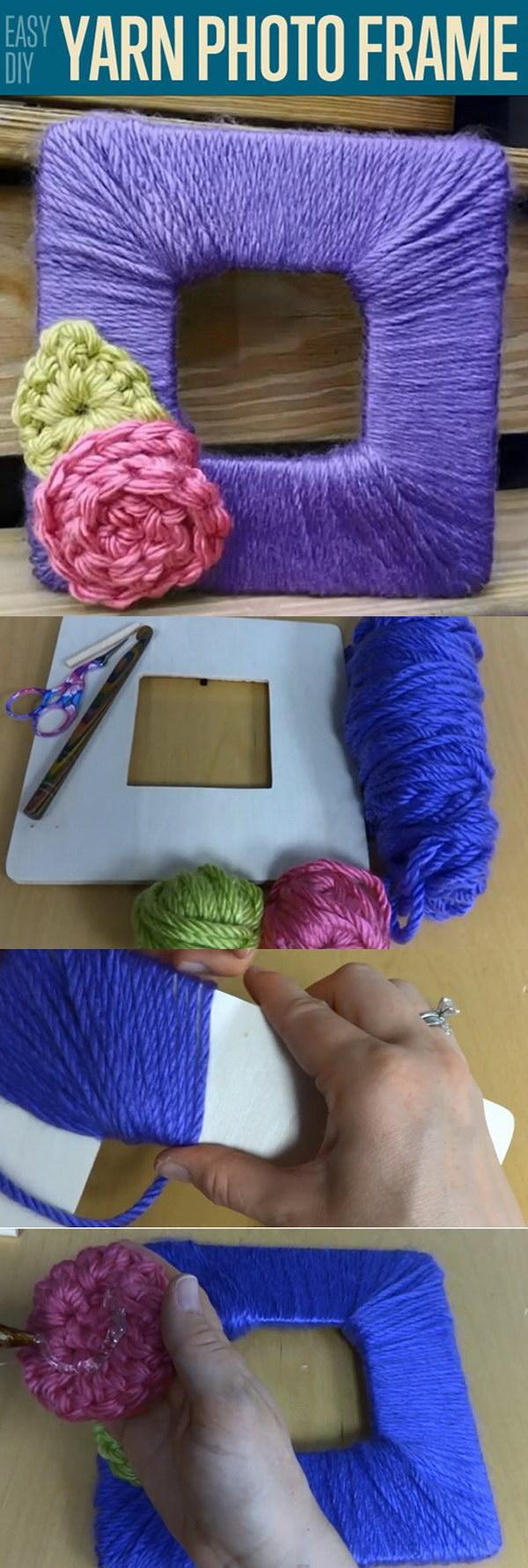 18 Yarn DIY Photo Frame