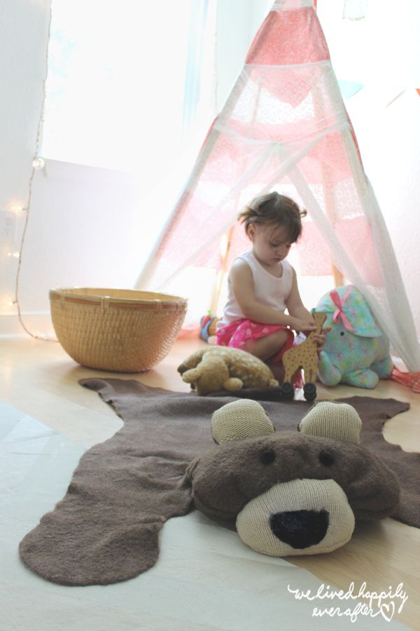 19 DIY $10 Bear Rug for Your Baby
