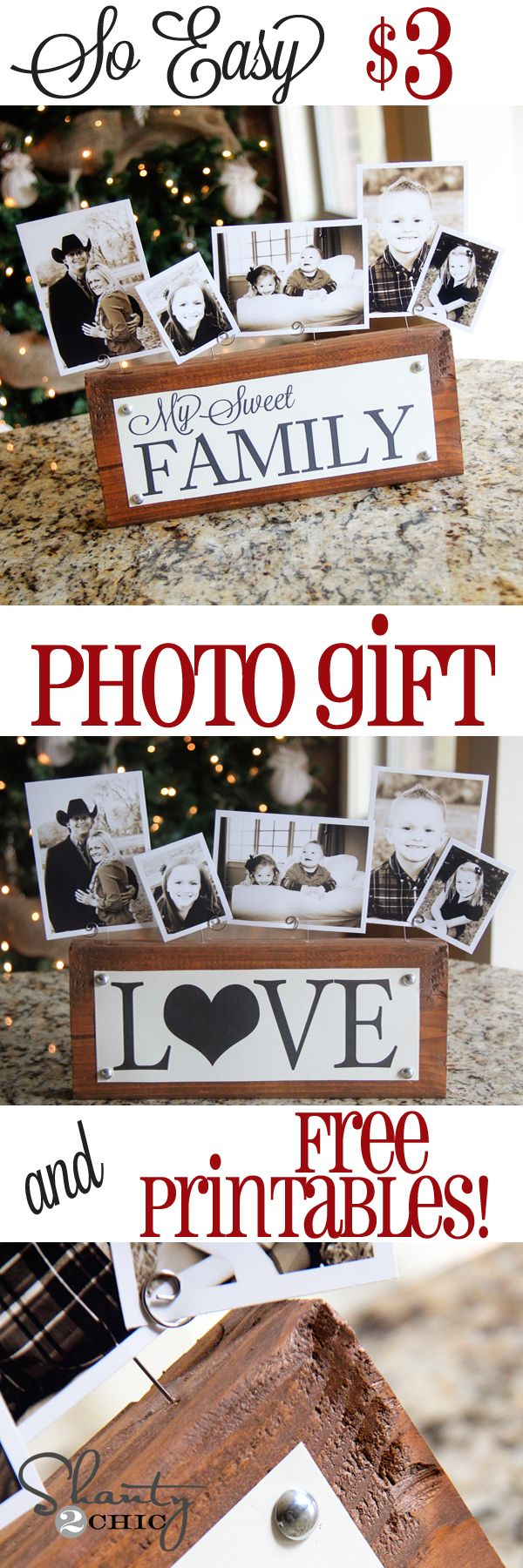 19 DIY Photo Block Gift