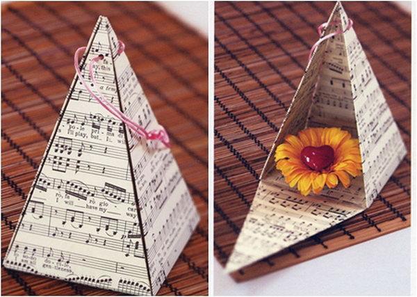 19  DIY Pyramid Gift Box