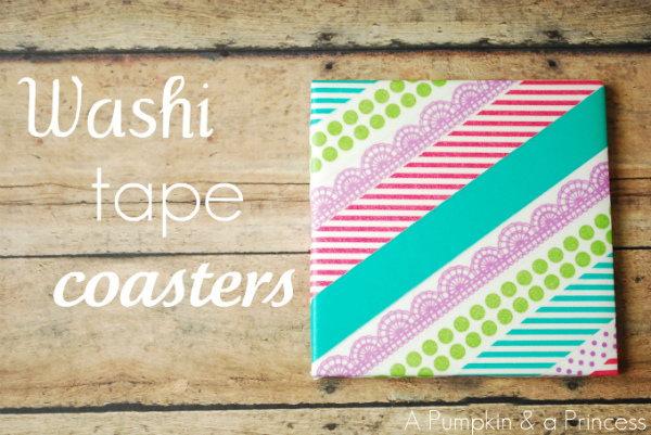 19 DIY Washi Tape Coasters