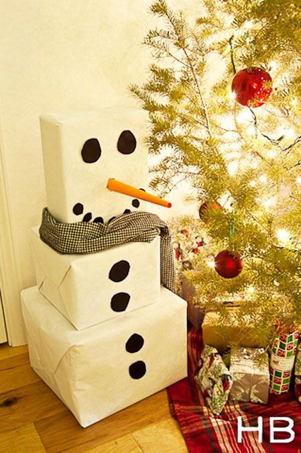 19 Snowman Gift Wrap Idea