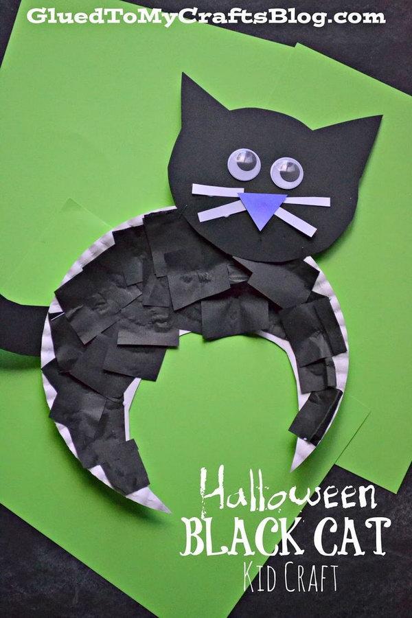2 Cute DIY Halloween Black Cat