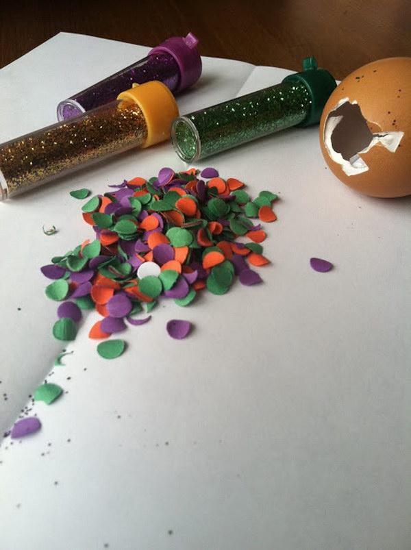 20  A Message in a Confetti Egg Save the Date Idea