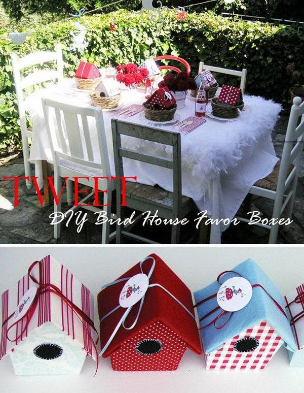 20 DIY Bird House Gift Boxes