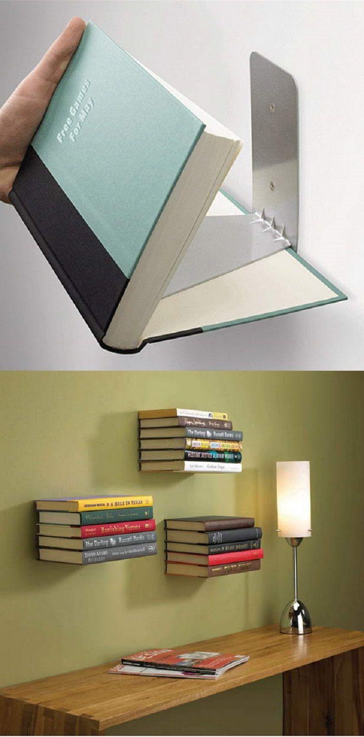 20 DIY Book Shelves Made out of Books