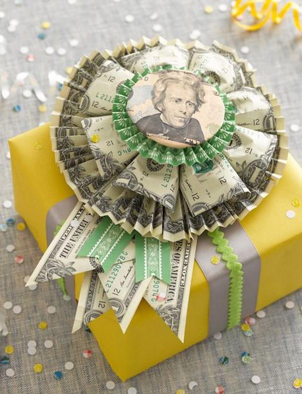 20 DIY Money Rosette