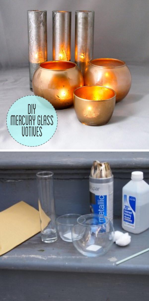20 Easy Mercury Glass Votives