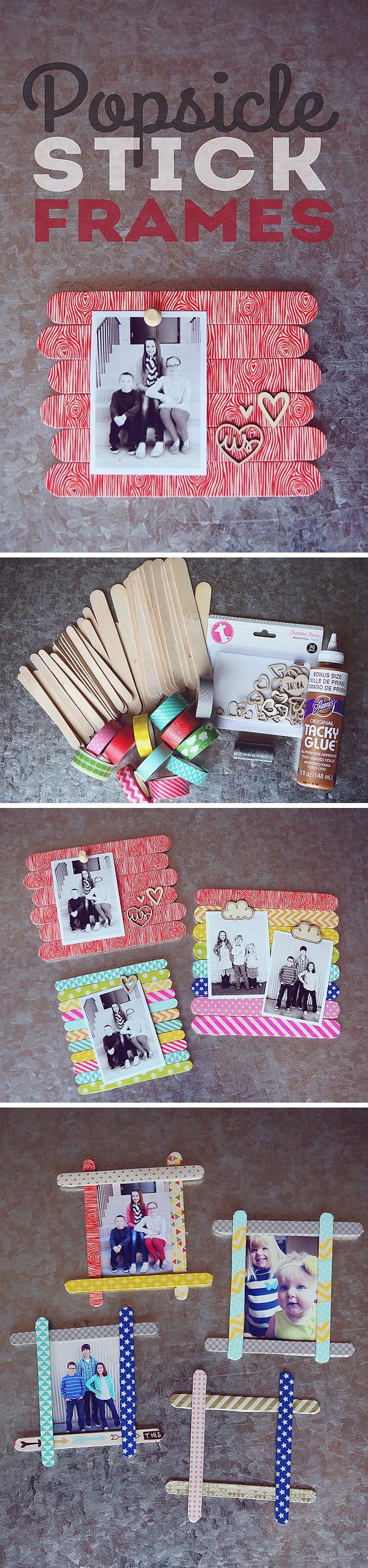 20 Popsicle Stick Frames