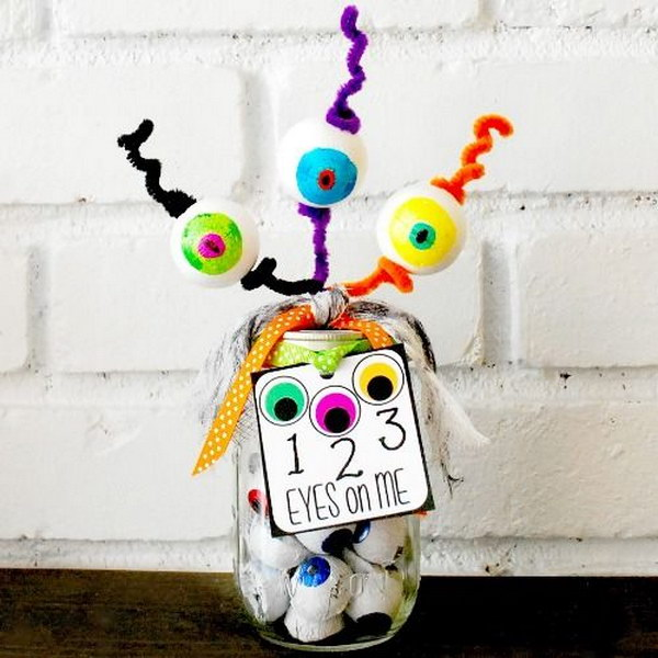 21 123 Eyes On Me Mason Jar Gift for Teacher