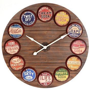 21 DIY Classic Bottle Cap Clock