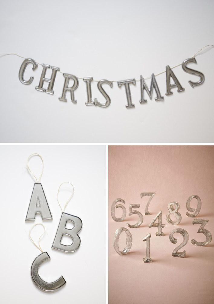 21 DIY Mercury Glass Letters